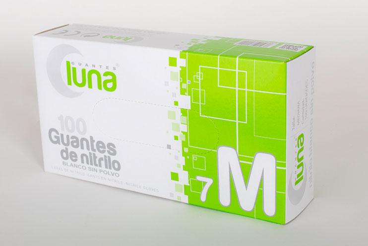 Guante de nitrilo blanco sin polvo
