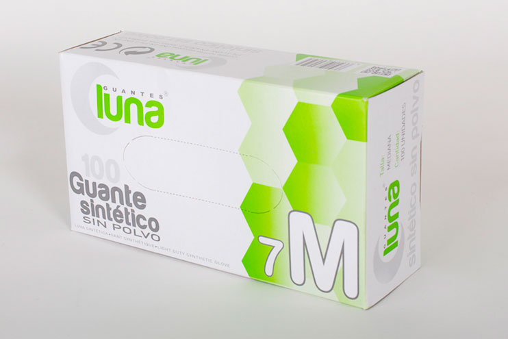 Guante sintetico sin polvo